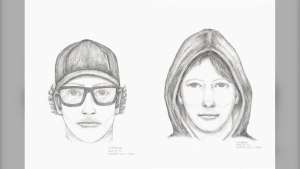 Police have released two composite sketches of the suspect and are asking the public for help identifying him. (Langley RCMP)