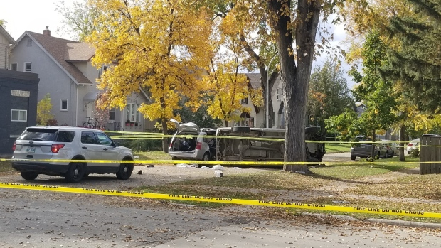 The scene of a deadly collision at Andrews Street and Boyd Avenue on Saturday, Sept. 26, 2020. (Source: Dan Timmerman/CTV News)