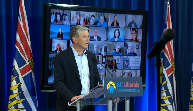 BC Liberal leader Andrew Wilkinson speaks at a campaign event on Saturday, Sept. 26, 2020.