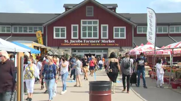 The St. Jacobs Farmers' Market on Sept, 26, 2020.