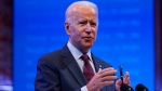 Democratic presidential candidate and former U.S. Vice-President Joe Biden gives a speech on the Supreme Court at The Queen Theater, Sunday, Sept. 27, 2020, in Wilmington, Del. (AP Photo/Andrew Harnik)