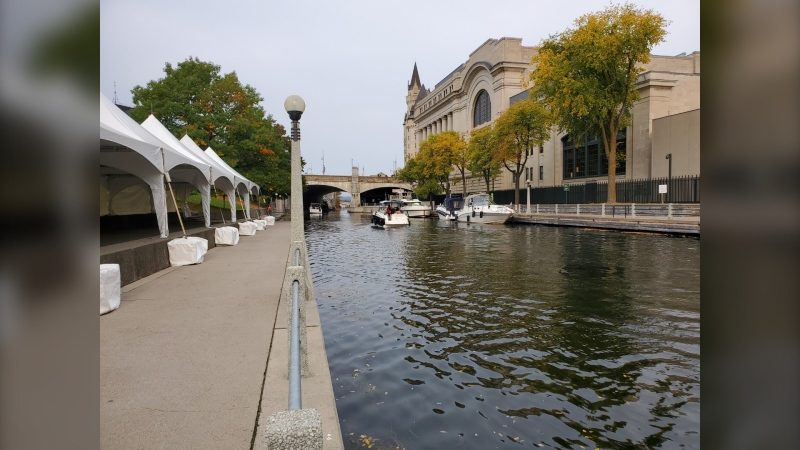 Boat traffic is down 50 per cent at the Rideau Canal Ottawa Locks this summer. (Josh Pringle/CTV News Ottawa)