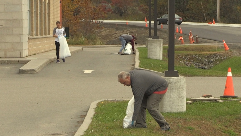 Dozens of volunteers came out on Sunday as part of a city wide clean up effort.