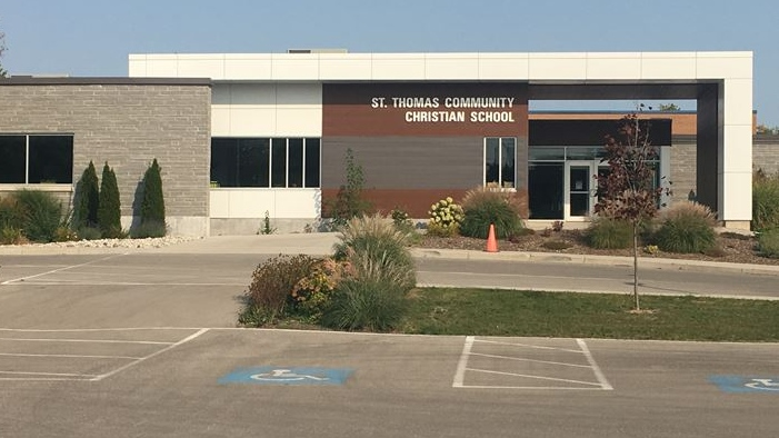 St. Thomas Community Christian School on Sept. 27, 2020. (Brent Lale/CTV London)