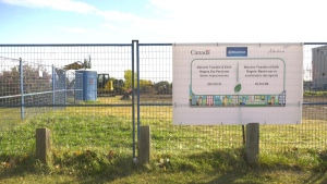 Site of the Malcolm Tweddle-Edith Rogers Dry Pond project. Sunday Sept. 27, 2020 (CTV News Edmonton)