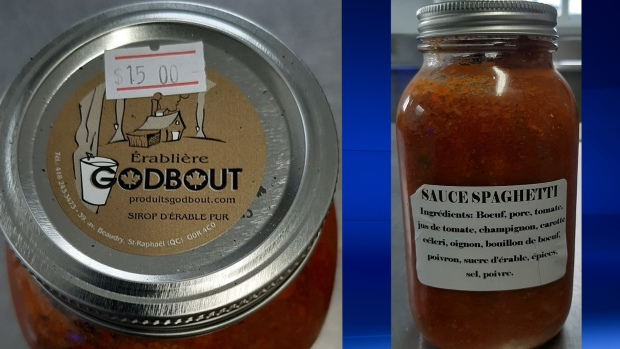 Recall issued on Quebec-made spaghetti sauce that may contain dangerous bacteria