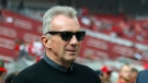 In this Oct. 21, 2018., file photo, Former San Francisco 49ers quarterback Joe Montana is seen before an NFL football game between the 49ers and the Los Angeles Rams in Santa Clara, Calif. (AP Photo/Josie Lepe, File)