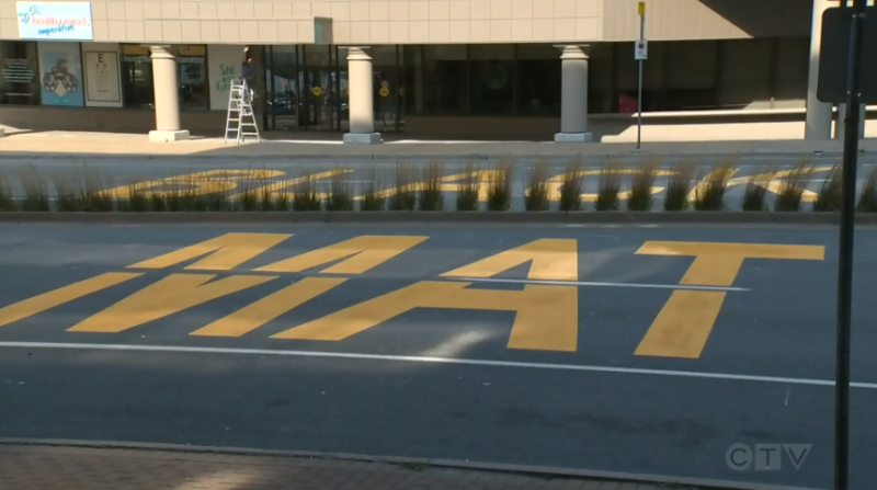 The Halifax Regional Municipality painted the words 'Black Lives Matter' on two streets in Halifax and Dartmouth this weekend.