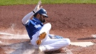 Toronto Blue Jays' Lourdes Gurriel Jr. scores on a sacrifice fly by Jonathan Davis during the second inning of a baseball game against the Baltimore Orioles, Sunday, Sept. 27, 2020, in Buffalo, N.Y. (AP Photo/Jeffrey T. Barnes)