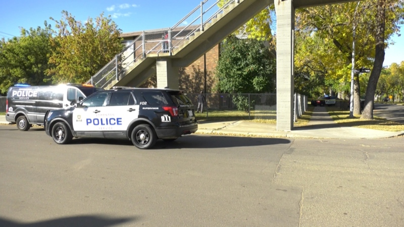 One woman was taken into custody and another was sent to hospital after a stabbing north of downtown. Sunday Sept. 27, 2020 (CTV News Edmonton)