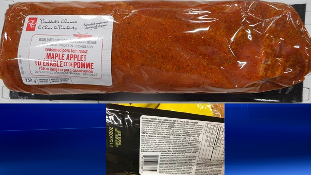Recall issued on pork product from Loblaws
