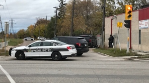 A heavy police presence could be seen in St. Vital Sunday, Sept. 27, 2020. (Source: Mike Arsenault/CTV News)