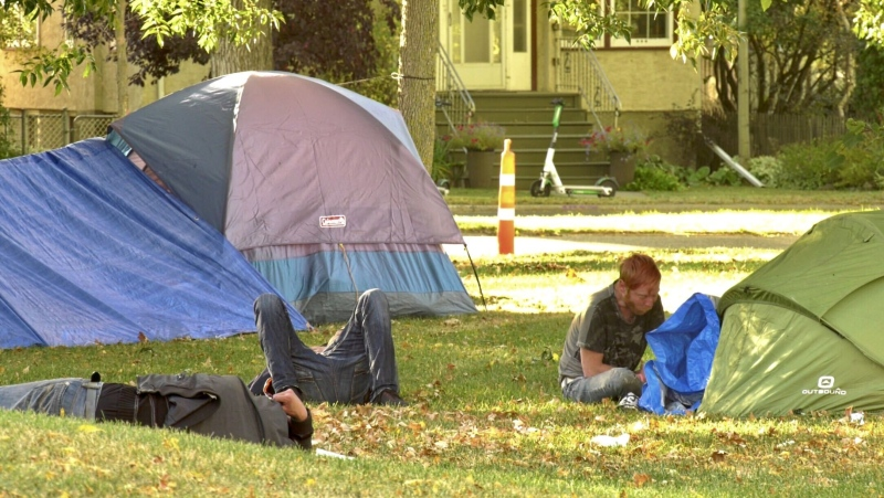 Peace camp has moved from Dr. Wilbur McIntyre Park to Light Horse Park. Sunday Sept. 27, 2020 (Sean Amato/CTV News Edmonton)