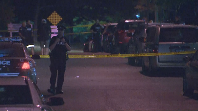 A man is in serious condition after a shooting near Jane and Shoreham.