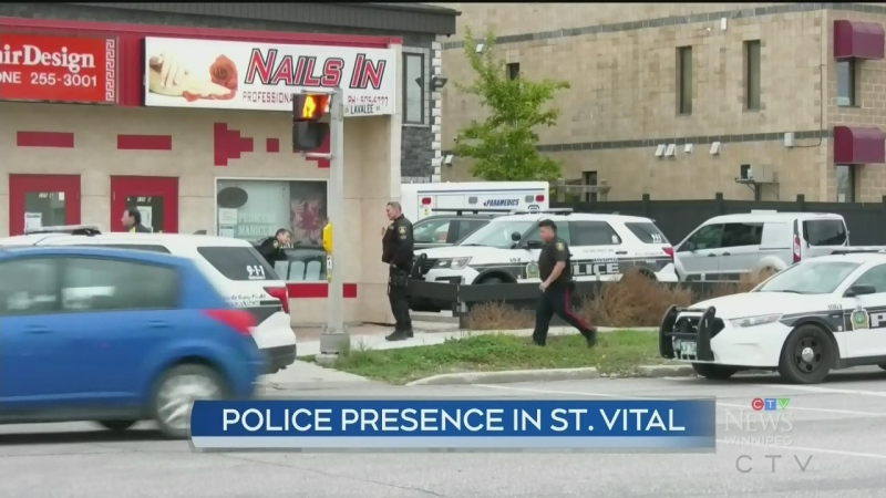 Heavy police presence Sunday in St. Vital