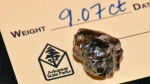 The 9.07 carat diamond found in Crater of Diamonds State Park. (Arkansas State Parks/CNN)
