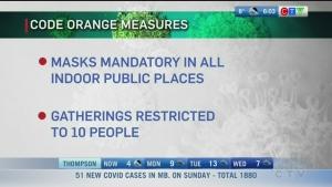 Winnipeg Code Orange, CERB ends: Morning Live