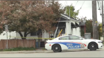Home in Sudbury's Flour Mill area cordoned off by Greater Sudbury Police Service. Sept. 27/20 (Molly Frommer/CTV Northern Ontario)