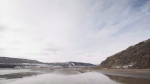 The Site C Dam location is seen along the Peace River in Fort St. John, B.C., Tuesday, April 18, 2017. (Jonathan Hayward / THE CANADIAN PRESS)