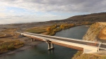The Jack Tennant Memorial Bridge is set to open to traffic on Oct. 16. (Town of Cochrane)