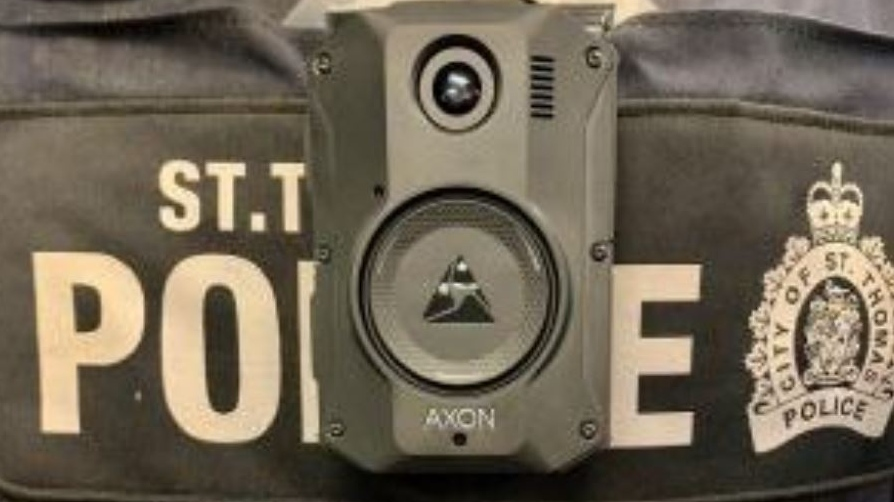 St. Thomas police body camera (Supplied)