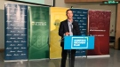 Doug Schweitzer, Alberta's minister of jobs, economy and innovation, announced the province would give a total of $2.1 million to seven university projects to research COVID-19. Sept. 28, 2020. (Sean McClune/CTV News Edmonton)