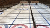 Oxbow's only curling facility, which houses four sheets of curling ice, has been dealing with declining membership and needs to come up with a revenue plan to raise $17,500 by Dec. 1 in order for ice to be installed in the rink. (Claire Hanna / CTV News Regina)