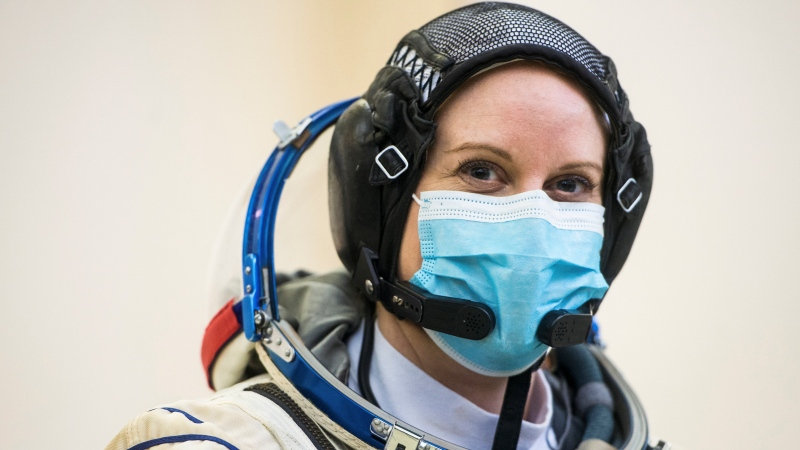 NASA astronaut Kate Rubins will cast her electronic ballot from space for the upcoming U.S. election. (Andrey Shelepin/GCTC/NASA/AP/CNN)