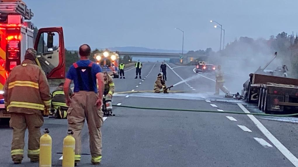 Scene of fatal crash on Hwy 11