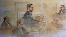 Adam Strong appears in court on September 28, 2020. (John Mantha)