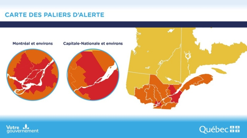 Quebec red zones