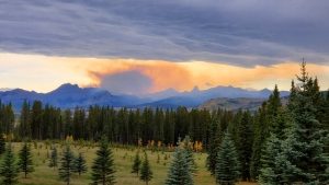 Smoke can be seen from the Devil's Head wildfire west of Calgary. (Courtesy Andreas Cordsen)