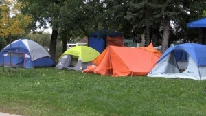 Homeless protest in North Bay