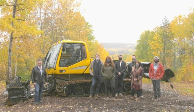 Autumn hues presented a perfect backdrop for a golden opportunity for Kamiskotia Snow Resort. On Monday, the board announced it purchased a new groomer with funding from Newmont Porcupine (Lydia Chubak/CTV News)