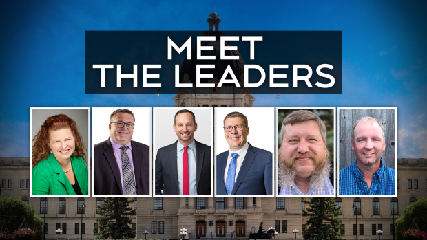 Here are the six leaders of each official party running in this year's election, scheduled for Oct. 26. (CTV Regina)