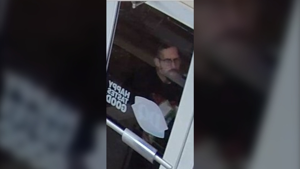 Oak Bay police are searching for this man in connection to a break-in at a local Dairy Queen: (Oak Bay Police / Twitter)