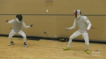 Fencing swords and social distancing