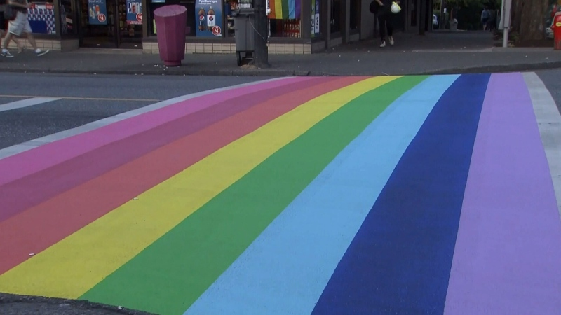 Controversy erupts over rainbow crosswalk