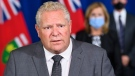 Ontario Premier Doug Ford answers questions from the media at Queen's Park during the COVID-19 pandemic in Toronto on Monday, September 28, 2020. THE CANADIAN PRESS/Nathan Denette