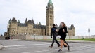 Minister of Finance Chrystia Freeland arrives on Parliament Hill in Ottawa on Thursday, Sept. 24, 2020. THE CANADIAN PRESS/Sean Kilpatrick