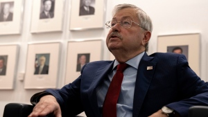 U.S. Ambassador to China Terry Branstad speaks during an interview at the U.S. embassy in Beijing on Tuesday, Sept. 29, 2020. (AP Photo/Ng Han Guan)