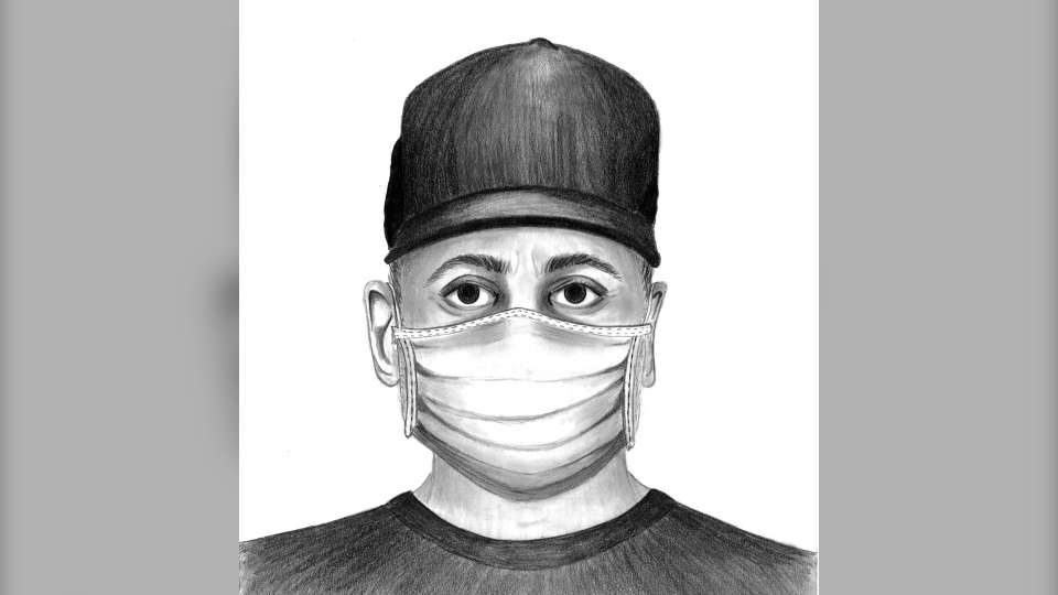Police released a composite sketch of a man believed involved in a road rage incident that left a victim suffering serious stab wounds. (Calgary police handout)