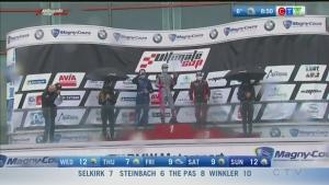 Auto racer David Richert on big win