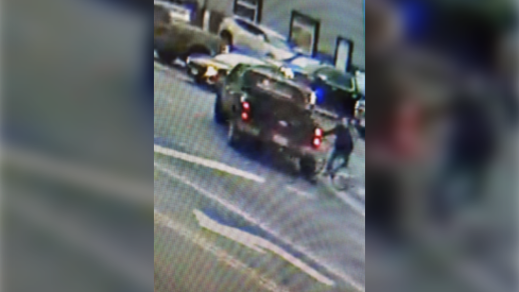 Black pickup truck involved in cyclist hit and run