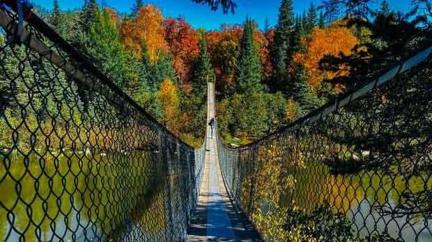 Pinawa suspension bridge. Photo by Melissa Tokariwski.