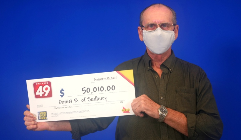 Daniel Beaulieu of Sudbury is celebrating after winning an Ontario 49 second prize worth $50,000 in the Sept. 9 draw. (Supplied)