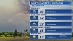 Partially sunny skies and seasonal temperatures