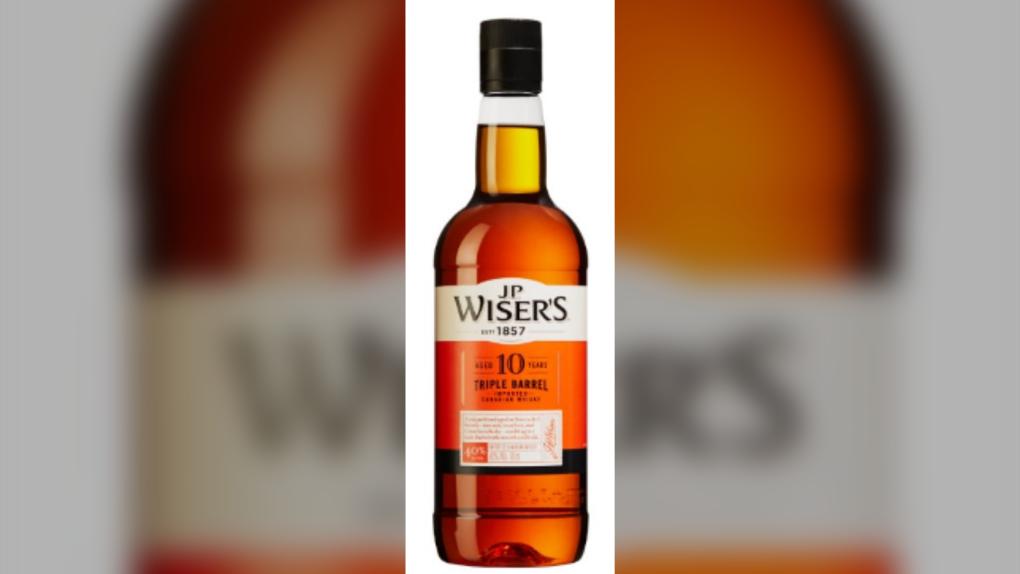 J.P. Wiser's 10 Year Old Whisky bottle