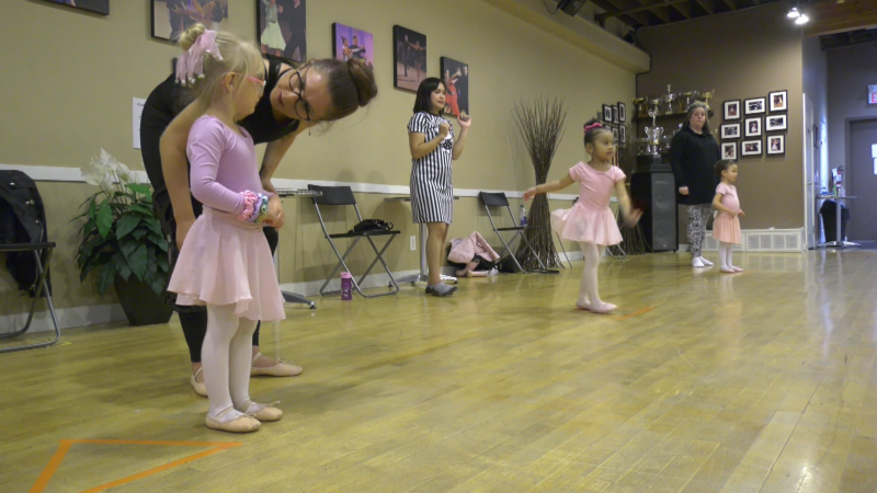 Rose Brook and her daughter Katie are taking their second ballet class together this fall.