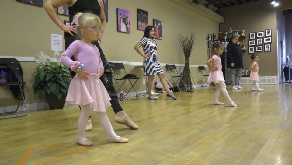 This Elite Dance Studio class that allows tiny ballerinas to bring a parent with them to the barre is very popular.